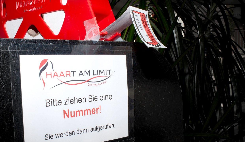 Haart am Limit Friseursalon Holzgerlingen unser Nummernsystem.
